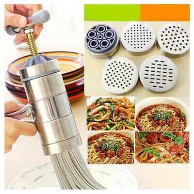 Stainless Steel Juicer Dough Pasta Noodle Maker Press Spaghetti Machine Kitchen