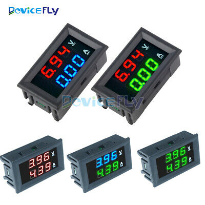 Digital DC 0-100V 10A Dual LED Display Voltmeter Ammeter Voltage AMP Power