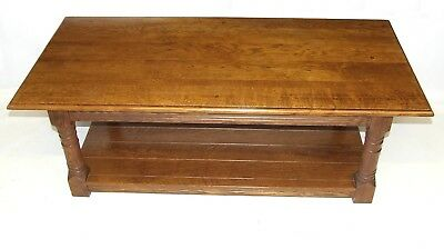 MASSIVE SOLID Light OAK Potboard Pot Board Coffee Occasional Table Lamp TV Stand