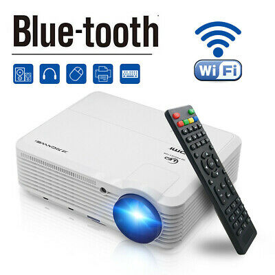 Smart HD Video Android Projector Wifi Bluetooth Home Cinema HDMI VGA Miracast