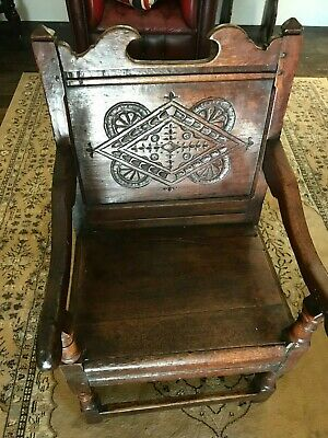 Mid 17th Century Joined Oak Wainscot Chair