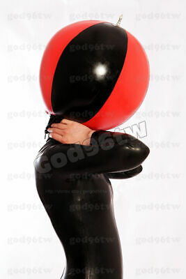 100% Latex Rubber Gummi Inflatable Ball Mask Hood 0.45mm Catsuit Deluxe cool