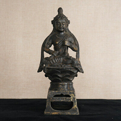 Amazing Chinese Antiques Bronze Statue Sitting Buddha Buddism Sculpture