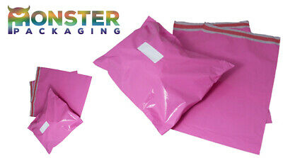 Pink Coloured Color Mailing Bags Plastic Mail Postage Polythene Strong All Sizes