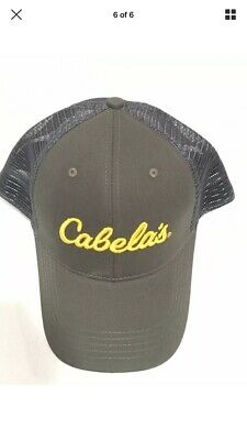 b28112244aed0 CABELAS Outdoor Fishing Hunting One-Size Snapback Mesh Trucker Baseball Hat  Cap