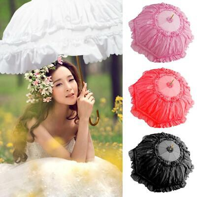 Colorful Lace Embroidered Parasol Bridal Umbrella Wedding Party Photography Prop