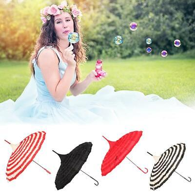 Ladies Beauty Lace Embroidered Parasol Bridal Umbrella Wedding Party Decoration