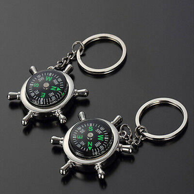 Fashion Compass Metal Car Keyring Keychain Key Chain Ring Keyfob Unisex Gift
