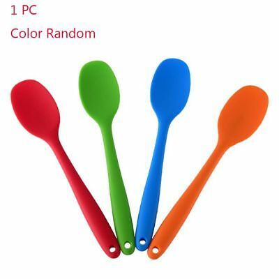 High-grade Silicone Solid Spoon Kitchen Mixing Cooking Accessories Color Random