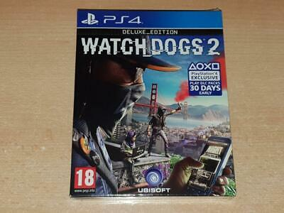 Watch Dogs 2 PS4 Playstation 4 Deluxe Edition BRAND NEW & SEALED
