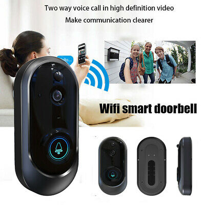 WiFi Wireless Video Doorbell Two-Way Talk Smart Door Bell Security Camera HD