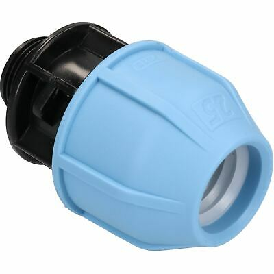 """25mm x 3/4"""" MDPE Male Adapter Compression Coupling Fitting Water Pipe PN16"""