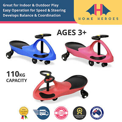 KIDS SWING PLASMA WIGGLE CAR Swivel Slider Ride On Toy Stable Scooter