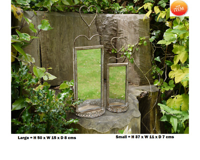 Garden Mirrors x 2 Outdoor Indoor French Ornate Metal Freestanding Wall Hung