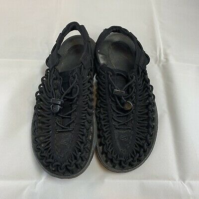 a5a2df7cd4 Keen Uneek Leather 2 Cord Womens Sport Hiking Water Sandals 7 M $110 Black
