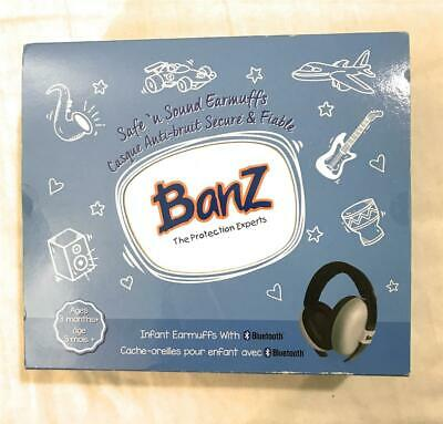 Banz Baby Mini Ear Protectors Infant Safe n' Sound Earmuffs With Bluetooth, Grey