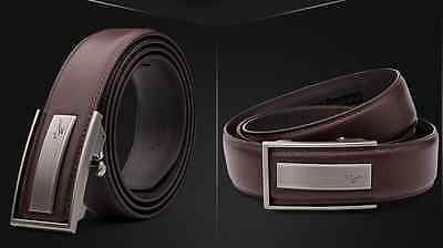 Septwolve men real Genuine cow leather belt Auto lock Buckle brown 313400000-1