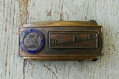 Honor Carrier Training Recognition Program Piedmont News Belt Buckle Paper Boy