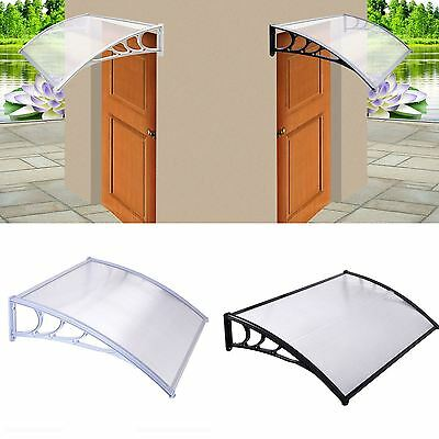 Door Canopy Awning Shelter Roof Front Back Porch Shade Patio Rain Cover New