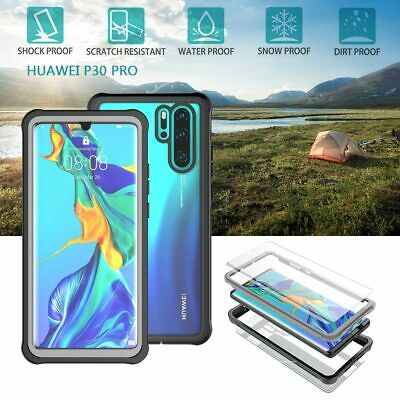 Huawei P30 Pro 2019 Waterproof Dirt/ Shockproof Armor Case Clear Full Body Cover
