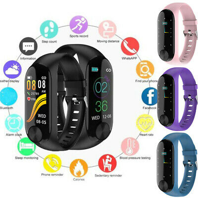Smart Band Watch Bracelet Fitness Activity Tracker Blood Pressure HeartRate CA