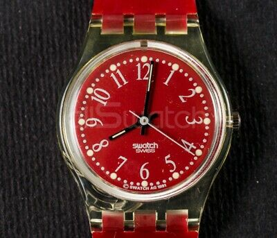 Swatch Standards Lady 1992 - LK128 - Rote-Lei - Nuovo