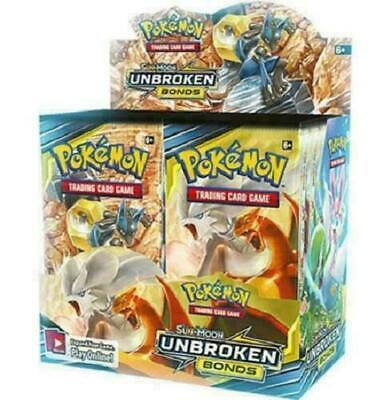 Pokemon 10 Unbroken Bonds Booster Pack Lot - Factory Sealed
