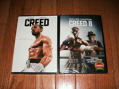 Brand New Sealed. Creed & Creed II on DVD. 2 movies for one price. Rocky saga