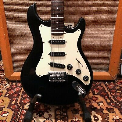 Vintage 1980s Vox Standard 25 Made in Japan MIJ Black Electric Guitar