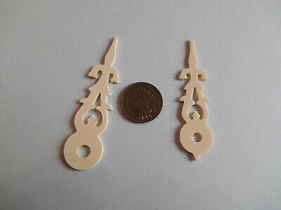 CUCKOO CLOCK HANDS w/ ROUND HOLE, BONE IN COLOR FOR 120MM DIAL