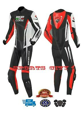 Ducati Motorbike/Motorcycle Racing Leather Suit Design. All Size Available.