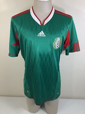 a58232ce312 Mexico 2009 National Team Home Soccer Jersey Mens Mediun Green Adidas  Football