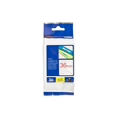 Brother TZE262 Laminated tape 36mm Labels Red on White x 8m