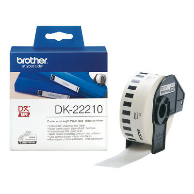 Brother DK22210 Continuous Paper Tape Durable White Paper Tape - Medium Width