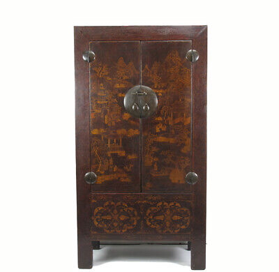 Antique Chinese Chinoiserie-Style Cabinet