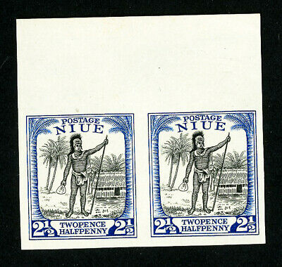 Niue Stamps # 43 Imperforate Pair Proof