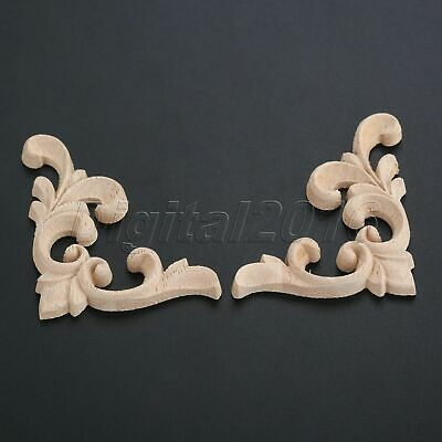 Unpainted Wooden Carved Applique European Style Oak Wood DIY Decoration Walls