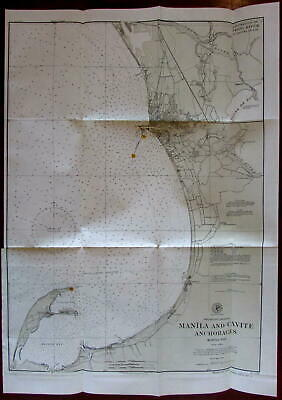 Manila Cavite Anchorages Philippine Islands 1902 detailed nautical chart map