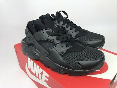 new style 957ad 66c72 Nike Huarache Run (GS) 654275-016) Triple Black Sneaker Kids Size 6