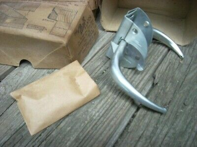 Vintage WRIGHT Screen Storm Door Latch Steel Push/Pull Handle Cadmium Finish NOS