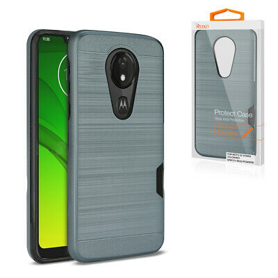 Reiko MOTOROLA MOTO G7 PLAY Slim Armor Hybrid Case With Card Holder In Gold