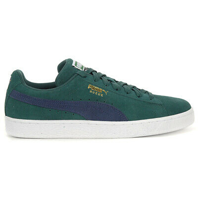 homme'S PUMA LIGA Olive Suede Gum Sole Athletic Sneakers