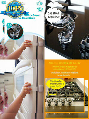 Stove Knob Covers |6 Pack| Child Safety Oven Baby Proofing Kit w/Oven Door...