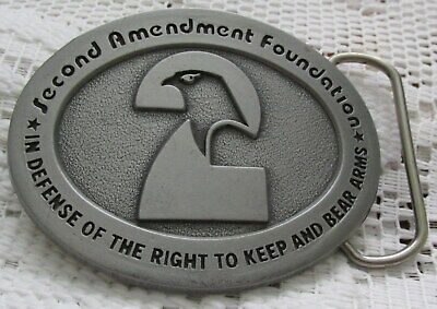 "Belt Buckle Collectible ""Second Amendment Foundation"" 3"" Made in USA"