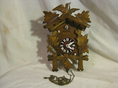 parts / repair vintage cuckoo clock German ? wooden wood Black Forest bird detai