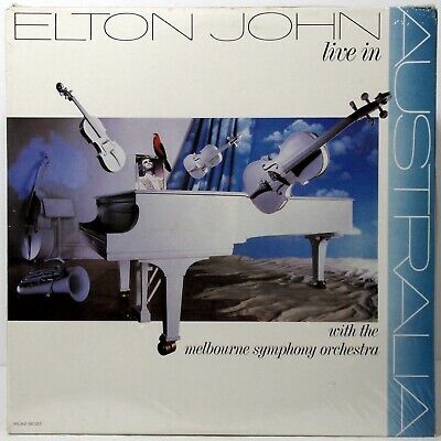 ELTON JOHN Live in Australia SEALED Vinyl double LP Columbia House CRC MCA2-8022