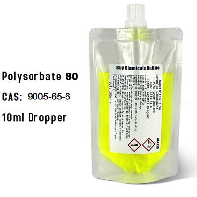 Polysorbate 80 100ml Pouch - Emulsifier / Solubiliser - Combines Oil and Water.