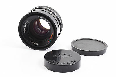 Rollei HFT Zeiss Planar 50mm f/1.8 Lens with Caps for QBM Mount Cameras RA21