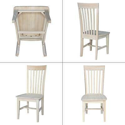 unfinished wood mission dining chair (set of 2) | tall international concepts