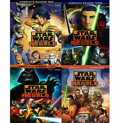 STAR WARS REBELS: Complete Seasons 1-4 Animated TV Series (DVD) 1 2 3 4 NEW!